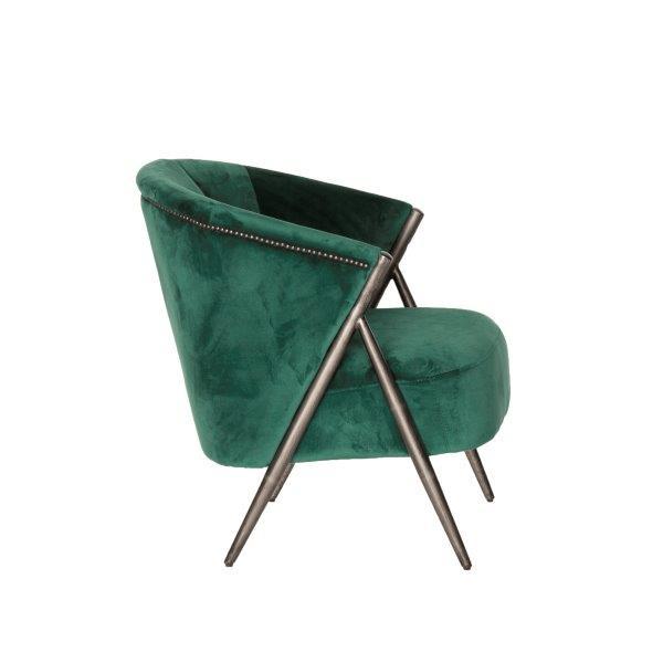 Fauteuil Semnan - Velvet - Groen