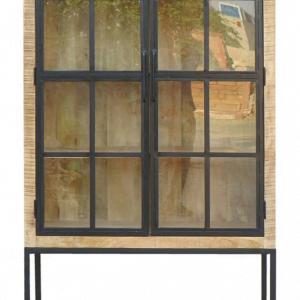 Vitrinekast - Urban 2-deurs - Mangohout