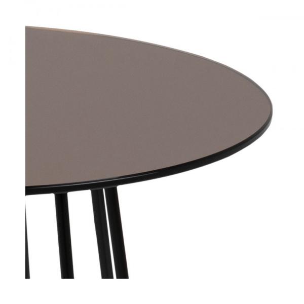 Bijzettafel Acasia - Spiegelglas - Brons - Ø 40cm