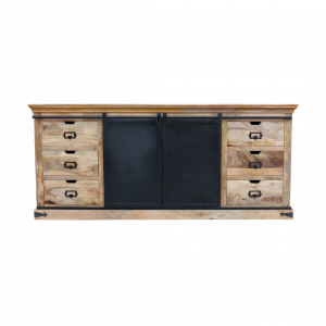 Industriële Dressoir Gitega - Naturel - XL