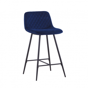 Barkruk Sassari - Velvet - Donkerblauw