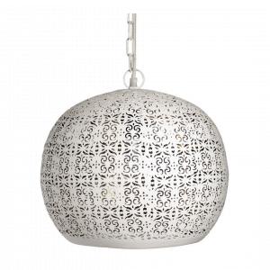 Oosterse Hanglamp Lara (L) - Wit