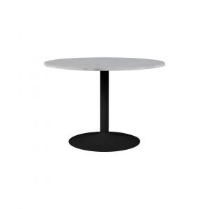 Eettafel Harika - Marmer - Wit / Zwart - Ø 110cm
