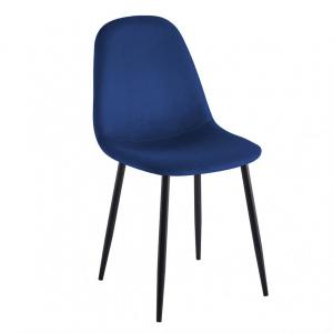 Eetkamerstoel Rome - Velvet - Blauw