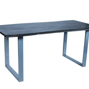 Eettafel Live Edge – Acaciahout – Grijs - 90x180cm