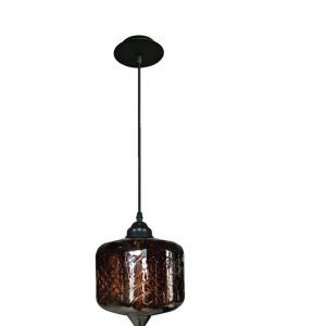 Oosterse Hanglamp (S) – Cognac – Cilinder