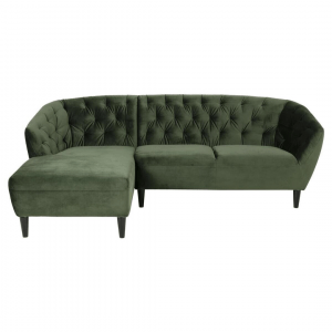 2-zitsbank Riva Chaise Longue Links - Velvet - Groen