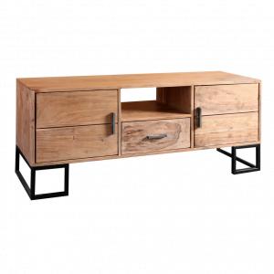 TV-meubel Paris - 2-Deurs - Acaciahout - Naturel / Zwart