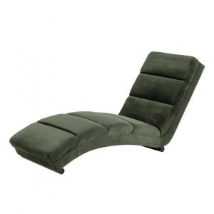 Chaise Longue Minky - Velvet - Groen