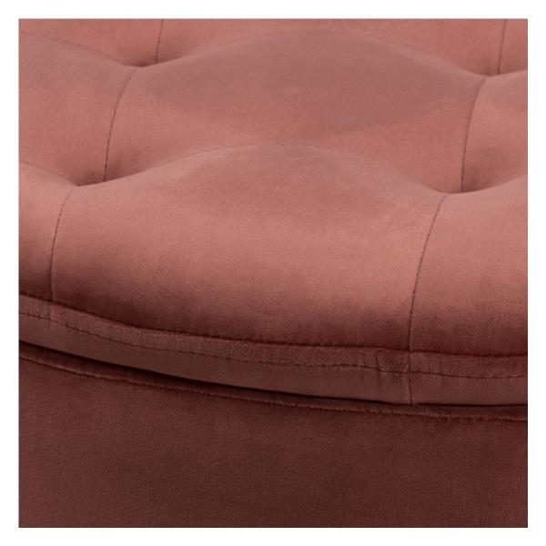 Poef Rita - Velvet - Koraal - Ø 60cm