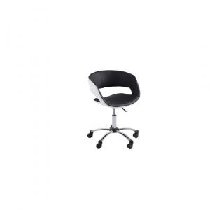 Bureaustoel Greek - Lederlook - Zwart / Wit