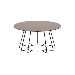 Salontafel Acasia - Spiegelglas - Brons - Ø 80cm