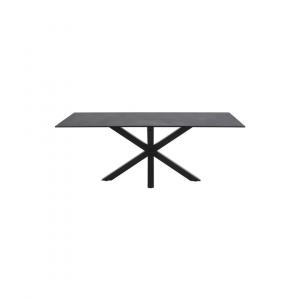 Eettafel Havaie - Glas / Keramiek - Zwart