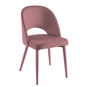Eetkamerstoel Calerno - Velvet - Roze