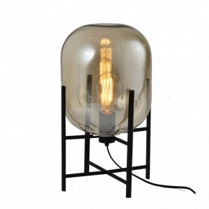 Industriële Tafellamp Thorben – Cognac / Zwart