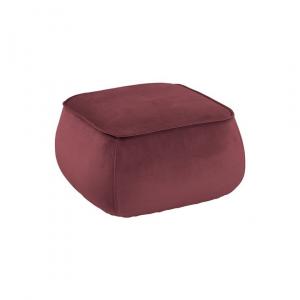 Poef Mir - Velvet - Koraal - Vierkant 60cm