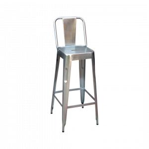 Barkruk Manchester- Metaal - Zilver
