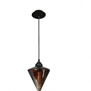 Oosterse Hanglamp (S) – Cognac – Kegel