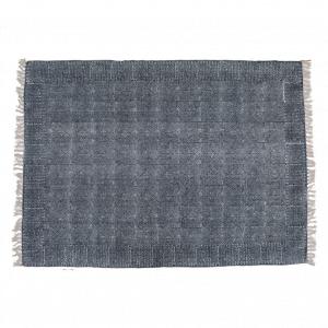 Kelim Kleed (L) - Blauw / Wit