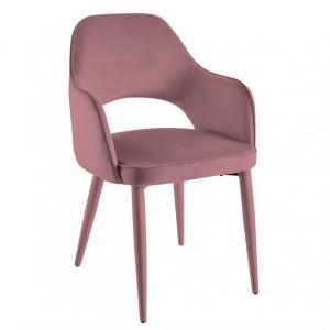 Eetkamerstoel Palermo - Velvet - Roze