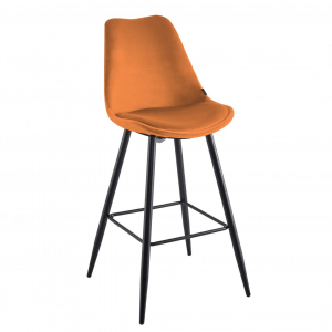Barkruk Trendy - Velvet - Oranje