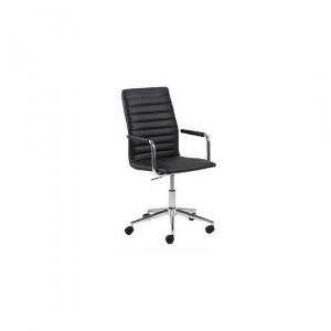Bureaustoel Winston - Leder - Zwart