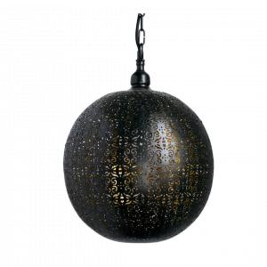 Oosterse Hanglamp Lina (L) - Zwart / Goud