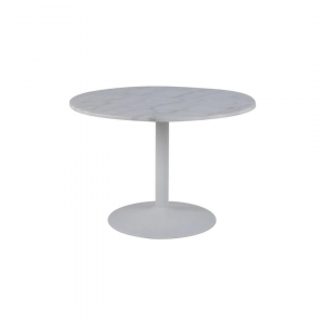 Eettafel Harika - Marmer - Wit - Ø 110cm