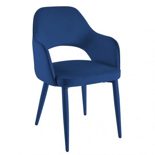 Eetkamerstoel Palermo - Velvet - Blauw