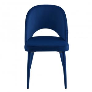 Eetkamerstoel Calerno - Velvet - Blauw