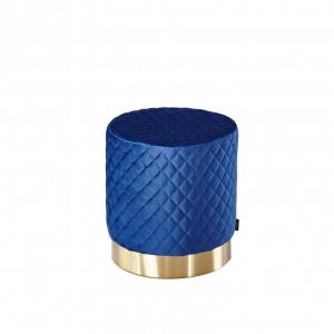 Poef Lida – Velvet – Blauw