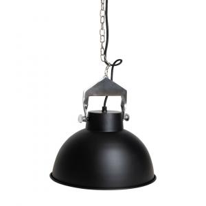 Industriële hanglamp Han (M) - Zwart - Metaal