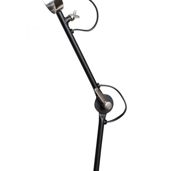 Industriële vloerlamp Han – Zwart – Metaal