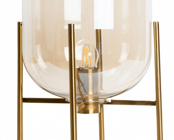 Industriële tafellamp Thorben – Cognac / Koper