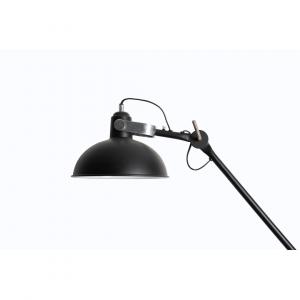 Industriële wandlamp Han L – Zwart – Metaal