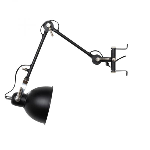 Industriële wandlamp Han M – Zwart – Metaal