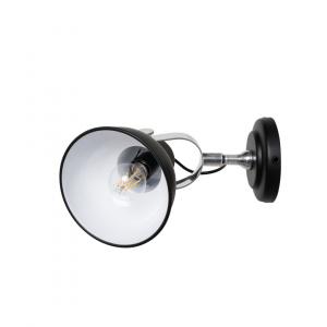 Industriële Wandlamp Han S – Zwart – Metaal