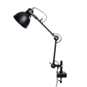 Industriële bureaulamp Han – Zwart – Metaal
