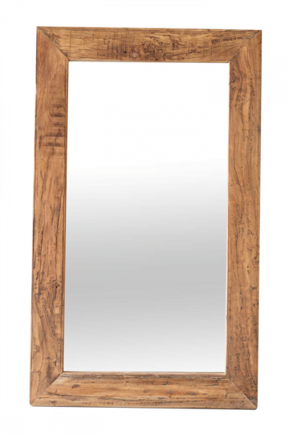Spiegel Taxon - Hout - Rechthoek - Naturel