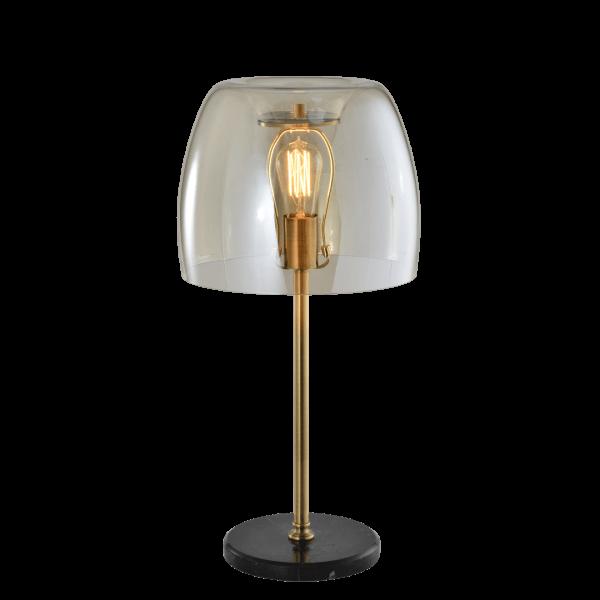 Tafellamp Tibbie- Glas - Cognac / Goud