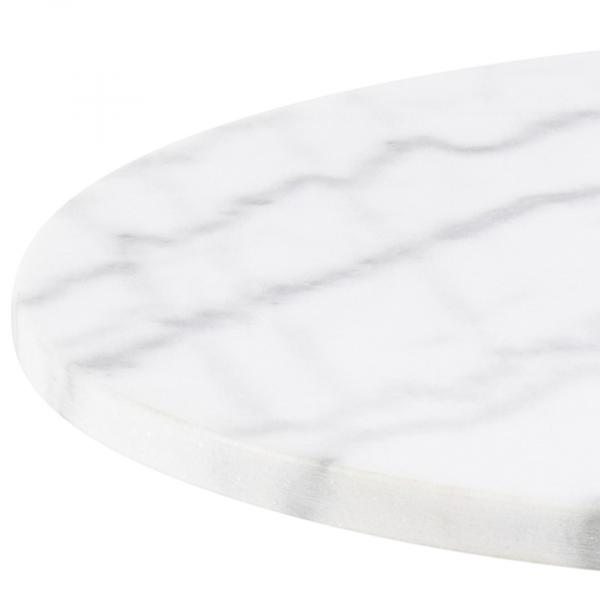 Bijzettafel Cobra - Marmer - Wit / Messing - Ø 50cm