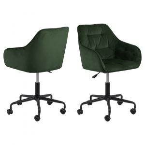 Bureaustoel Bloot - Velvet - Groen