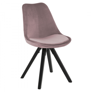 Eetkamerstoel Dillan - Velvet - Roze / Zwart
